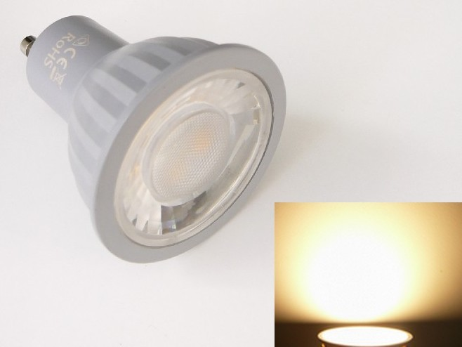 LED žárovka GU10 EV7W - teplá bílá 3000K