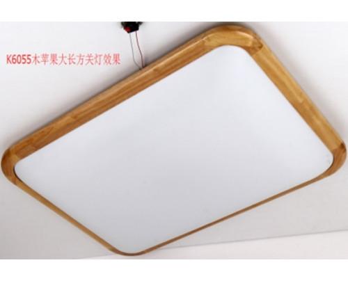 Dřevěné hranaté stropní svítidlo č.4 - 710*490*110 - Teplá bílá