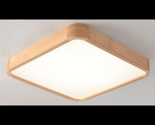 Dřevěné hranaté stropní svítidlo č.5 - 300*300*65