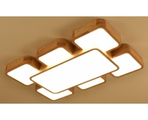Dřevěné členité stropní svítidlo č.3 - 840*540*80