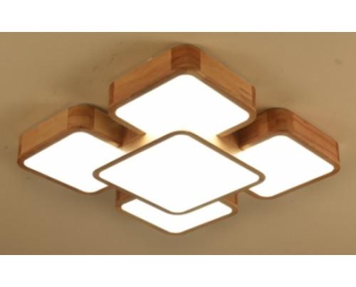 Dřevěné členité stropní svítidlo - 540*540*80