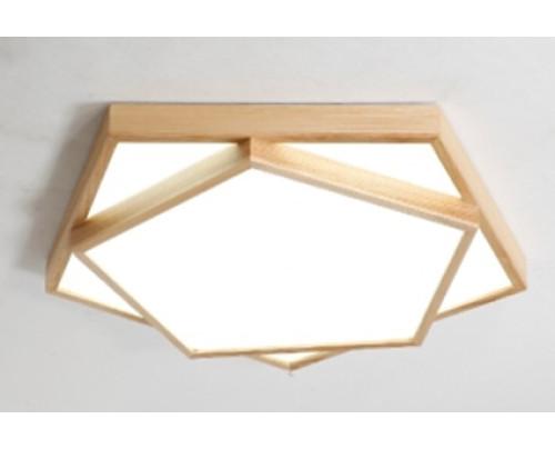 Dřevěné pětiúhelníkové stropní svítidlo č.3 φ650*80