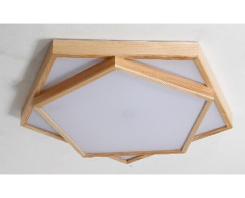 Dřevěné pětiúhelníkové stropní svítidlo č.4 φ800*80