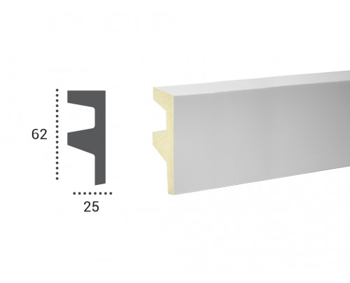 Lišta LF 501 - 62x25mm-profil 1m