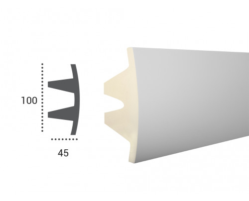 Ohebná lišta LF 503 - 100x45mm