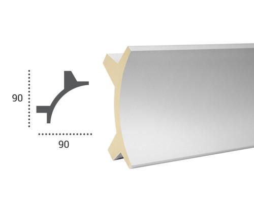Ohebná lišta LF 703 - 90x90mm