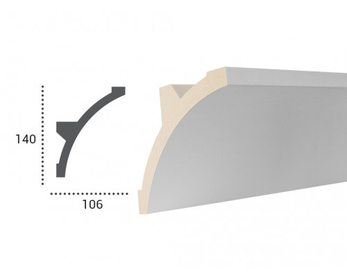 Ohebná lišta LF 708 - 140x106mm