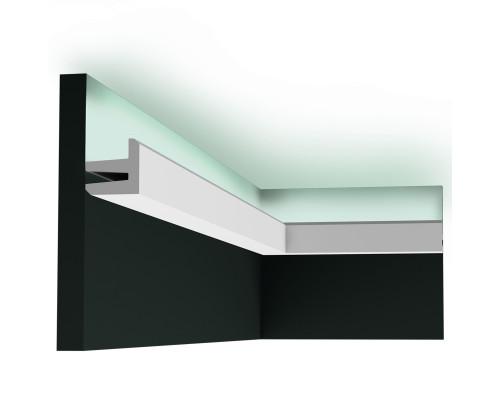 Lišta luxxus C380 pro nepřímé osvětlení nástěnná nebo stropní 2m