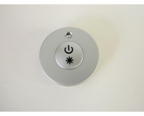 Mini LED ovladač RF DIM1 Stříbrný kulatý mini