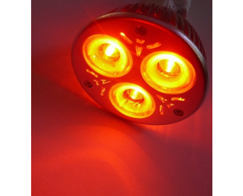 Barevná LED žárovka MR16 Červená