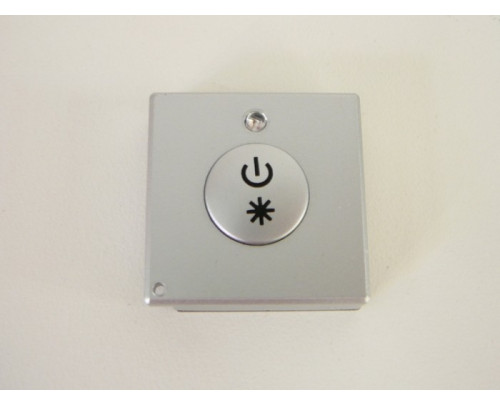 Mini LED ovladač RF DIM1 Stříbrný hranatý mini