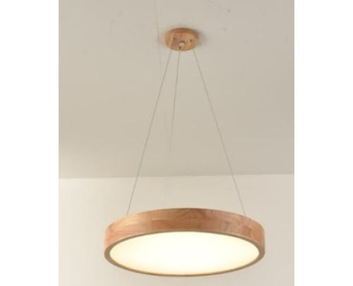 Závěsné dřevěné kulaté svítidlo φ400*45