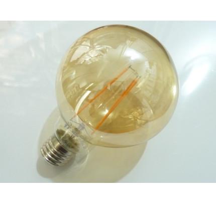 LED žárovka E27 EKF4W G95 FILAMENT kulatá Teplá bílá