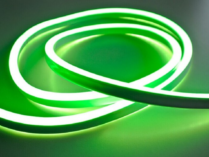 LED NEON pásek 230V - zelená