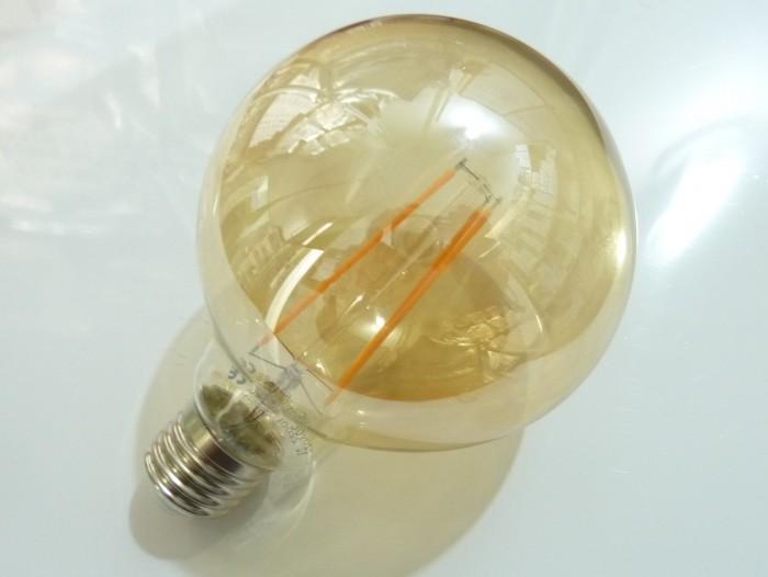 LED žárovka E27 EKF4W FILAMENT kulatá