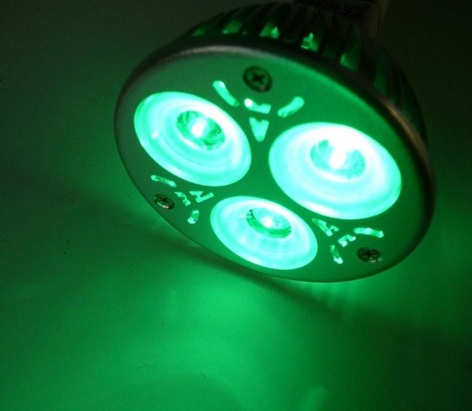 Barevná LED žárovka MR16 Zelená