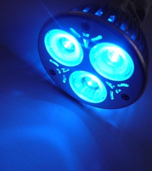 Barevná LED žárovka MR16 Modrá