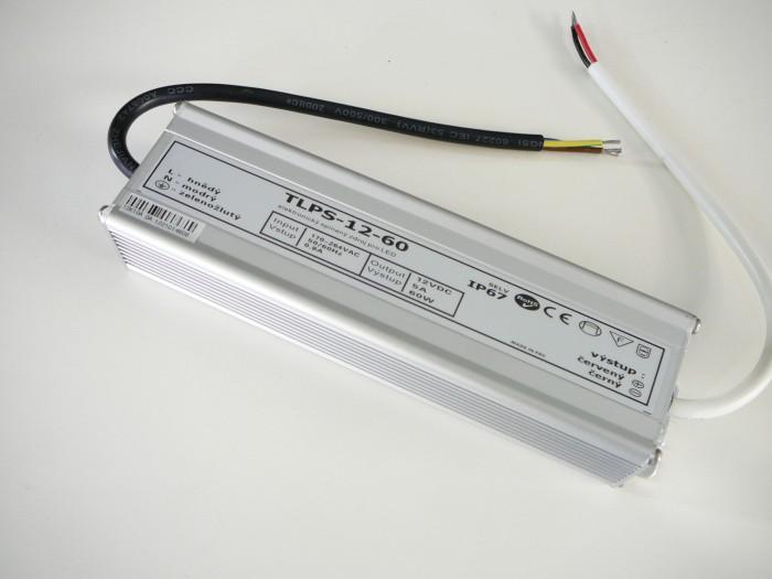 LED zdroj 12V 60W IP67