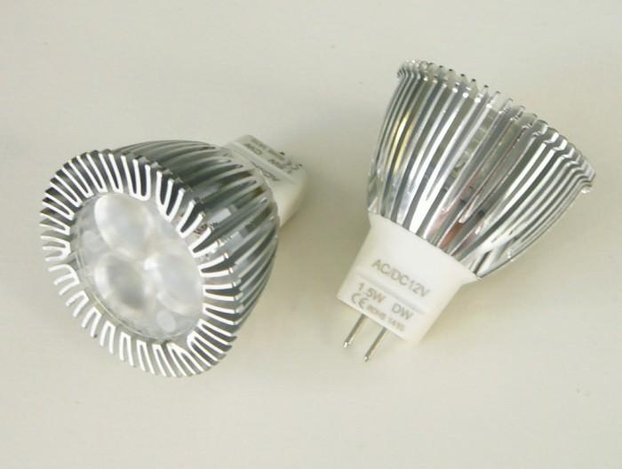 LED žárovka MR11 - 1,5W 60° Studená bílá