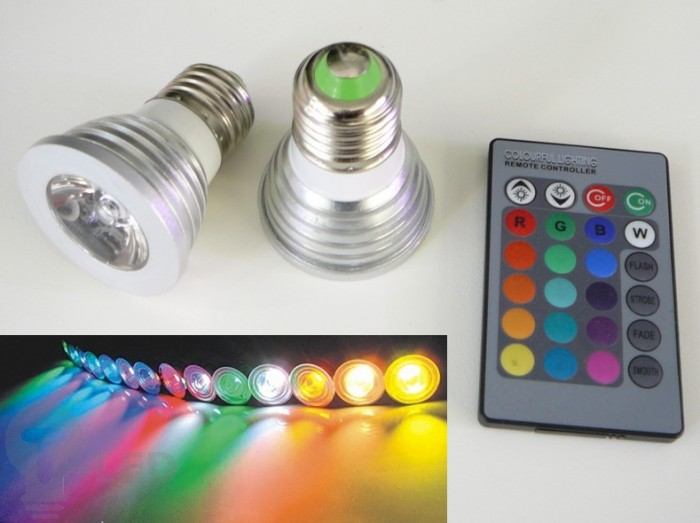 LED žárovka RGB16-2 E27- 60°