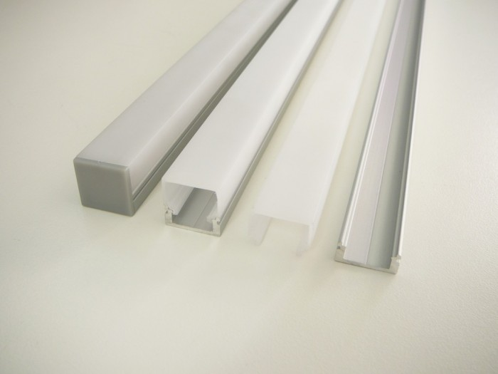 LED profil N8H - nástěnný stříbrný 2m
