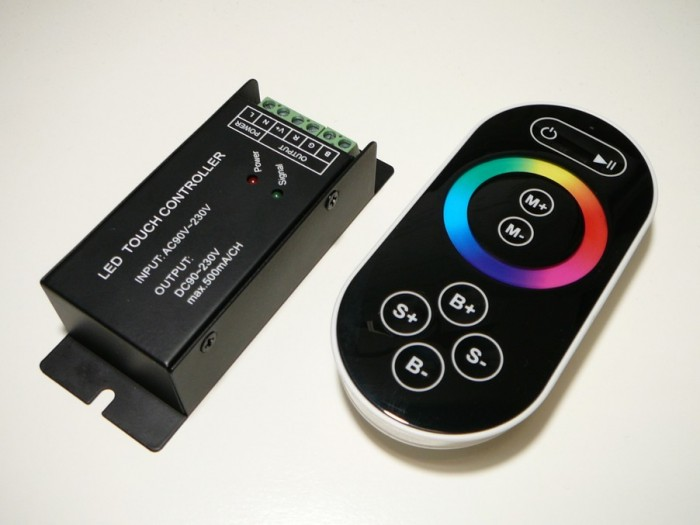 LED ovladač RGB 230V RING