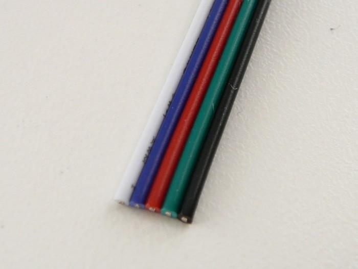 Plochý RGBW kabel transparentní