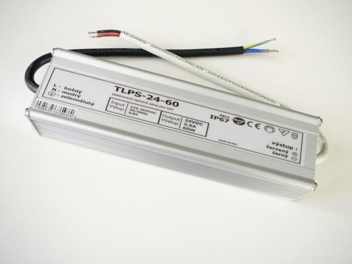 LED zdroj 24V 60W vodeodolný