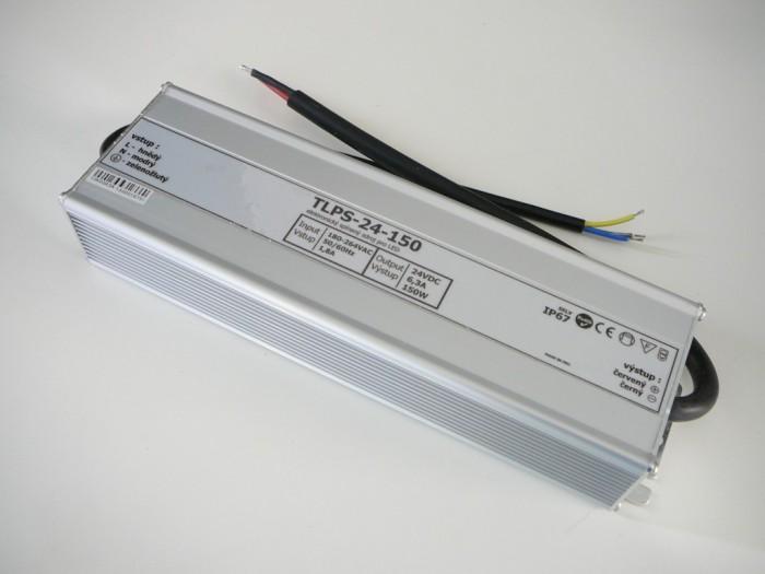 LED zdroj 24V 150W vodeodolný